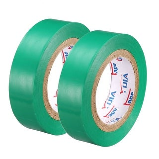 """PVC Electrical Insulating Tape Single Sided 21/32"""" Width 49ft 20mil Green 2pcs - 20 mil Thick, Green"""