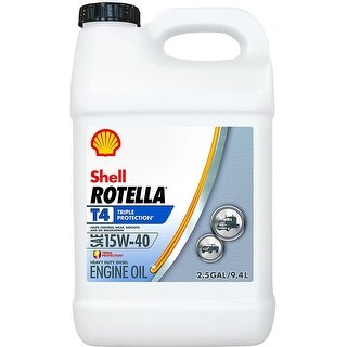 Shell 550045127 Rotella T4 Triple Protection Motor Oil, 2.5 Gallon