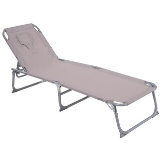 Costway Adjustable Pool Chaise Lounge Chair Recliner