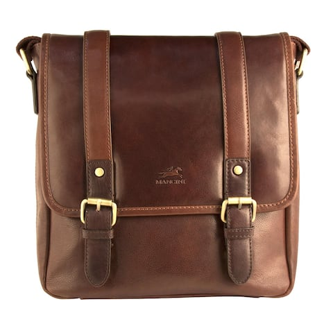 Mancini Men's Leather Calabria Cross Body Bag for Tablet - one size