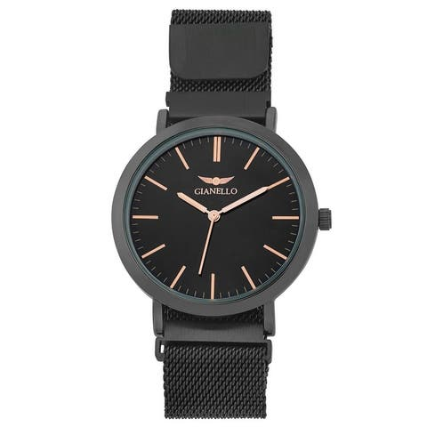 4 Colors Available- Mens Magnetic Closure Round Mesh Watch