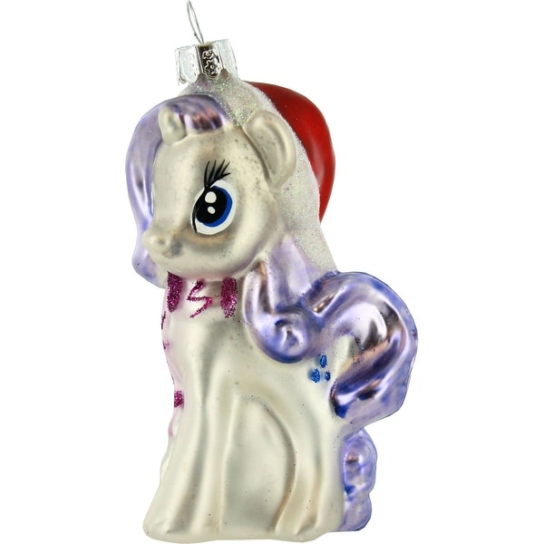 My Little Pony Rarity Glass Ornament