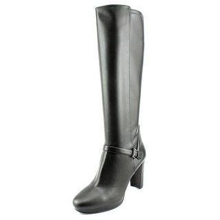 Nine West Kacie Women  Round Toe Synthetic Black Knee High Boot