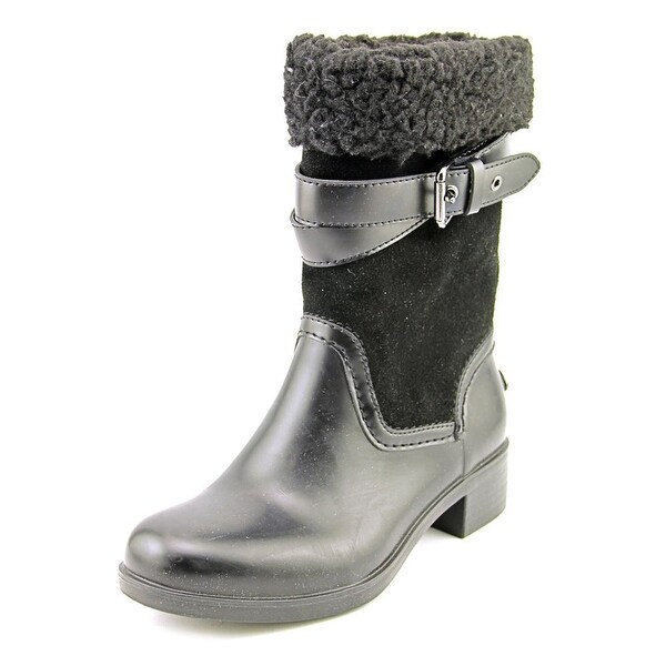 Coach Zena Round Toe Suede Mid Calf Boot