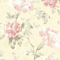 Brewster 2614-21001 Juliana Champagne Vintage Floral Wallpaper