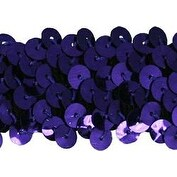 "Deep Purple - 3 Row Stretch Sequin Trim 1-1/4""X10yd"