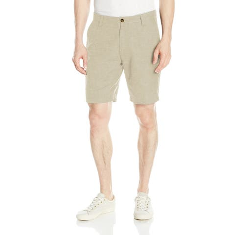 Nautica Beige Mens Size 38 Wheat Flax Khaki Chino Classic Fit Shorts