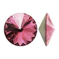 Swarovski Elements Crystal, 1122 Rivoli Fancy Stone ss47 11mm, 4 Pieces, Blush Rose F