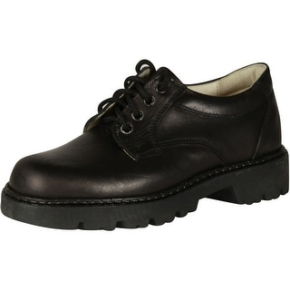 In Boys Y3244 European Leather Boys Shoes - Black