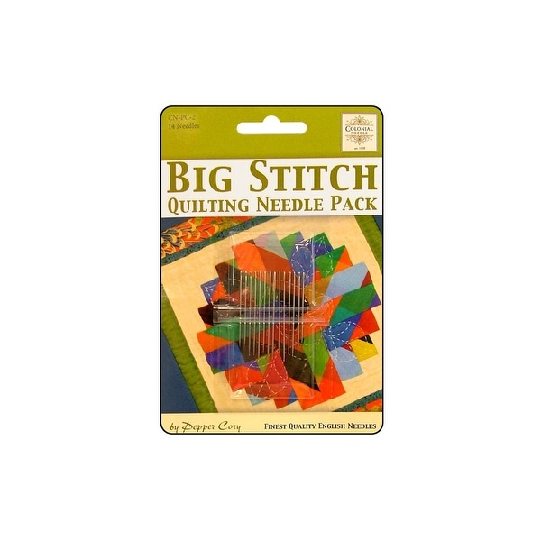 Colonial Ndl Big Stitch Quilting Needle Pack 14pc