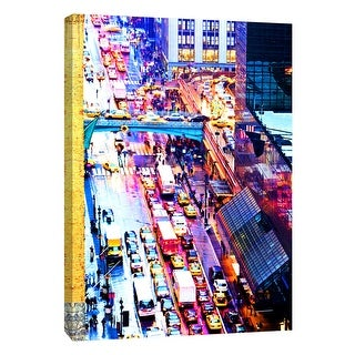 "PTM Images 9-108423  PTM Canvas Collection 10"" x 8"" - ""New York Rush"" Giclee New York Art Print on Canvas"