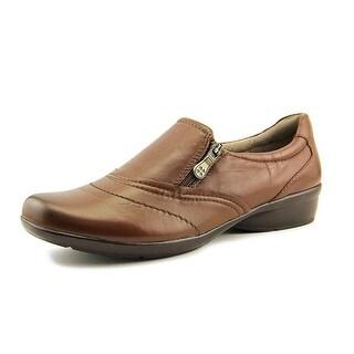 Naturalizer Clarissa Women WW Round Toe Leather Brown Loafer