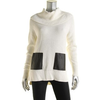MICHAEL Michael Kors Womens Faux Trim Funnel Neck Pullover Sweater - XS