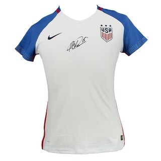 Megan Rapinoe Signed Nike Authentic USA Blue White Soccer Jersey Medium JSA