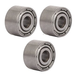 9mmx3mmx5mm Metal Shields Dust-Proof Deep Groove Ball Bearings Silver Tone 3pcs