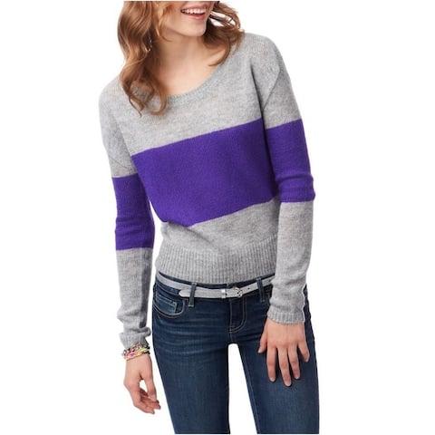 Aeropostale Womens Colorblock Boxy Crew Knit Sweater