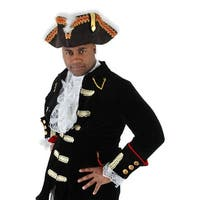 Gov'nah Pirate Tricorn Military Hat Adult Costume Accessory One Size - Black