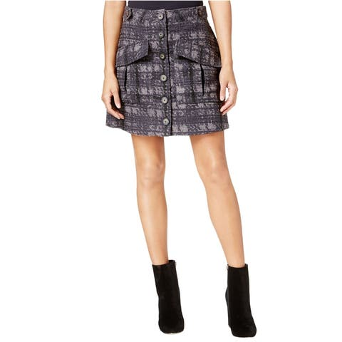 Rachel Roy Womens Textured Utility A-Line Skirt