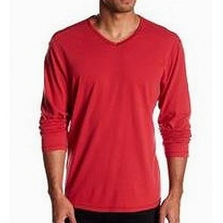 Tommy Bahama NEW Red Mens Size Large L V-Neck Long-Sleeve Tee T-Shirt