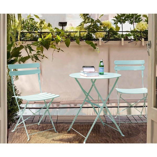 3-Piece Outdoor Bistro Set Folding Table and Chairs