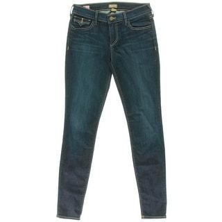 True Religion Womens Casey Denim Low-Rise Skinny Jeans - 30