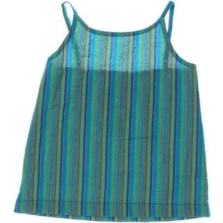 Peek Girls Striped High Neck Pullover Top - M