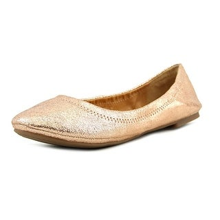 Lucky Brand Emmie Women  Round Toe Leather Gold Ballet Flats