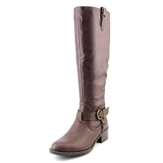 Rampage Intense Women Round Toe Leather Brown Knee High Boot