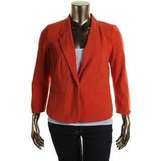 Kensie Womens Long Sleeves Notch Collar One-Button Blazer