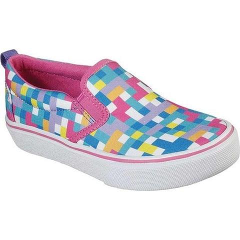Skechers Girls' Skech-Craft Marley Jr. Pixel Burst Slip On Sneaker Multi