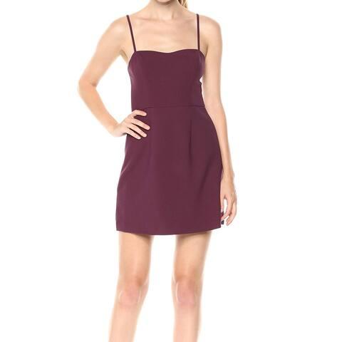 French Connection Women's Dress Classic Plum Purple Size 12 Sheath