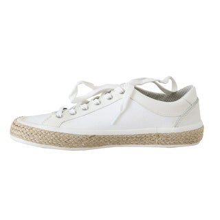 Dolce & Gabbana White Leather Cotton Sneakers