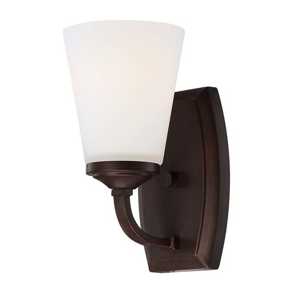 Minka Lavery 6961-284 1 Light Bathroom Sconce from the Overland Park Collection - Vintage Bronze