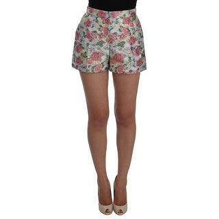 Dolce & Gabbana Multicolor Floral Brocade Shorts - it44-l