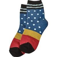Women's Socks - Dots 'N Stripes Socks - Black - One size