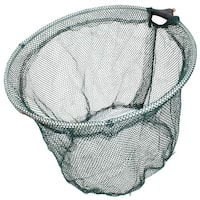 Unique Bargains 14'' x 10.6'' Telescopic Handle Landing Net Fishing Fish Angler Mesh Extending Pole Green Silver Tone