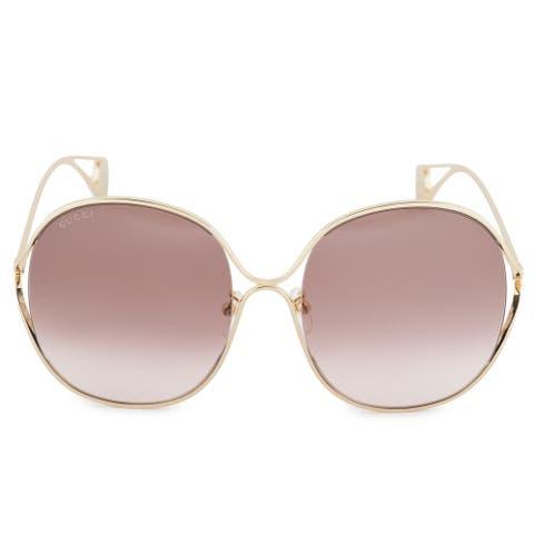 a844a4a8b6c08 Gucci Gucci Oversized Sunglasses GG0362S 002 57