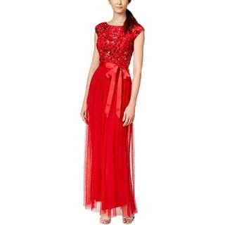 Patra Ltd Womens Evening Dress Beaded Mesh - 10
