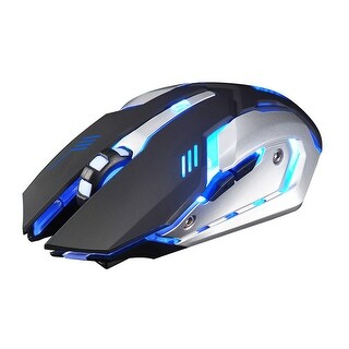Rechargeable X7 Wireless Silent LED Backlit USB Optical Ergonomic Gaming Mouse - 118 x 81 x 28mm
