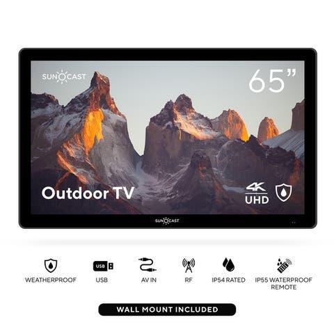 "Suncast 65"" Outdoor Partial Shade 4K UHD LED TV - Black"