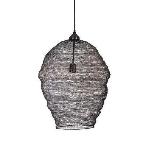 Jago 25-inch Black Mesh 1 Light Pendant
