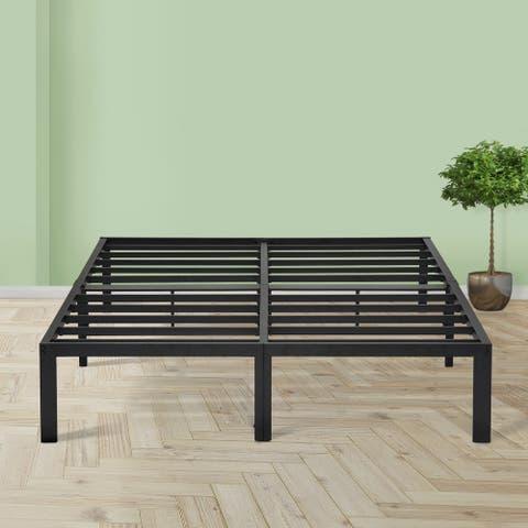 Sleeplanner 14-inch Queen Steel Platform Bed Frame