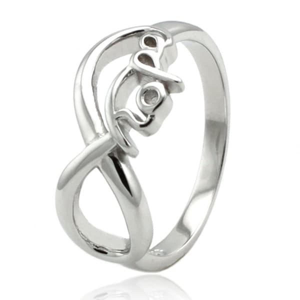 Sterling Silver Infinity Hope Ring