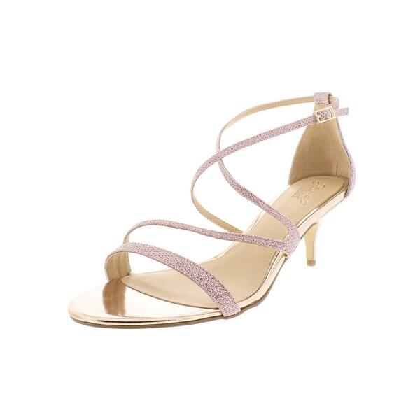234ac7ff651 Shop Jewel Badgley Mischka Womens Gal Evening Sandals Glitter Kitten ...