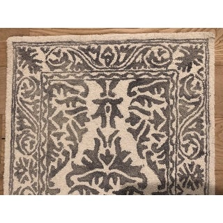 nuLOOM Handmade Dip Dyed Damask Wool Area Rug