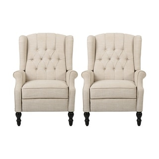 Christopher Knight Home Walter Tufted Fabric Recliner (Set of 2)