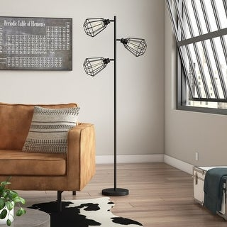 Link to 65-Inch Track Tree Floor Lamp, 3-head, Metal Black - 1 Pack Similar Items in Floor Lamps