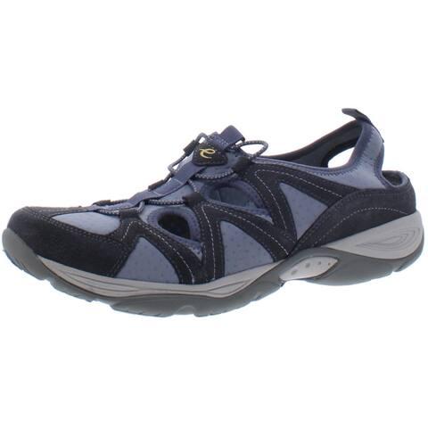 Easy Spirit Womens Earthen Walking Shoes Suede Mesh