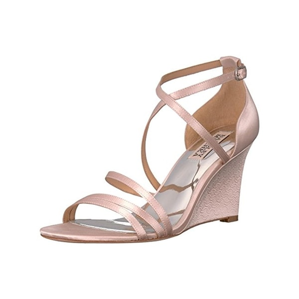 Badgley Mischka Womens Bonanza Evening Sandals Strappy Wedge