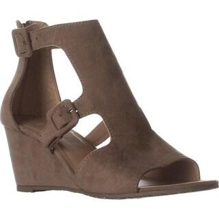 ESPRIT Angel Wedge Buckle Sandals, Camel